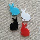 Laser cut acrylic charm Rabbit