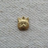 BRASS Small CAT FACE 2個入り