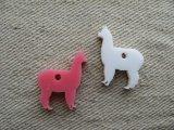 Laser cut acrylic charm Alpaca