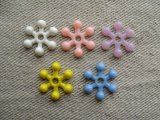 Vintage 16mm Flower Beads 4個入り