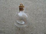 "Glass Cork Mini Bottle charm ""Big ball"""