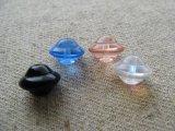 "Glass ""Saturn"" 10x8mm Beads 4個入り"
