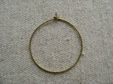 Pierce Brass Earwire-Hoop 30mm