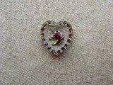 Unicorn Heart Glass Intaglio Pendant(L)