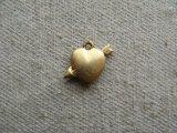 Brass Hollow Heart&Arrow