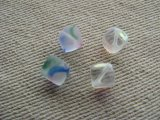 "Glass""ICE-CUBE"" 8mm Beads 4個入り"