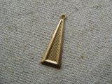 Brass Earring Tri-Drops 2個入り
