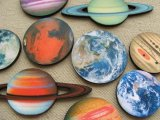 Print Wooden Charm PLANET