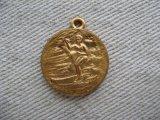 BRASS Surfer+Medal Charm