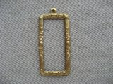 Brass Rectangle Tag Frame