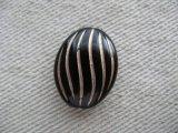 Vintage style Flat Oval-Melon Beads【BLACK】