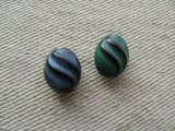 Vintage Glass Swirl Beads