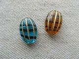 Vintage style Glass Oval-Melon Beads
