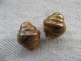 Vintage Twisted Caramel-Marble Beads