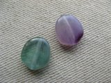 Plastic Marble Flat Nugget Beads(S) 2個いり