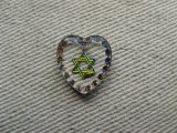 """Star of David ""Heart Glass Intaglio Pendant (L)"