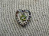 """""""Star of David """"Heart Glass Intaglio Pendant (L)"""