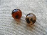 Plastic Tortoise Round ball Beads 2個入り