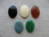 Plastic Simple Cabochon【Marble】 18x13mm