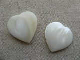 Vintage Mother of Pearl Heart Drop