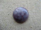 Vintage Purple Mottled Plastic Cabochon 18mm
