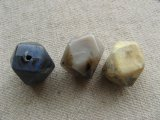 Vintage Marble-Stone Faceted Beads