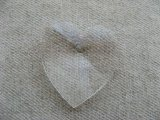 Vintage Plastic Clear Heart Big Pendant
