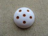 Vintage Five-Dot White Cabochon