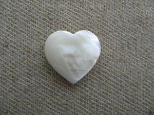 画像1: Vintage Mother of Pearl Heart Drop 【Mini】