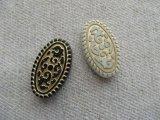 Vintage style Acrylic Flat Tube Beads 2個いり