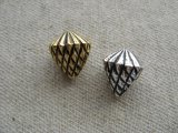 Vintage Metalized Plastic Pinecone Beads