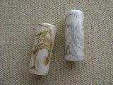 Vintage Plastic Striae Tube Beads