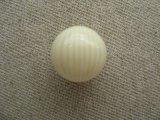 Vintage Ivory/Cream Striped Ball Beads 16mm