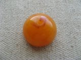 Vintage Amber Dome Beads