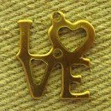 BRASS  LOVE charms 2個入り