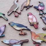 Print Wooden Charm BIRD