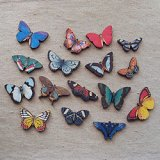 Print Wooden Charm Butterfly