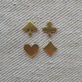 Brass TINY Playing-card mark set