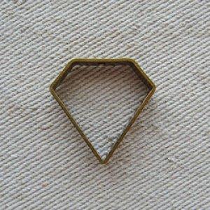 """画像1: Brass frame """"Diamond"""""""