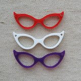 Laser cut acrylic charm Eyeglasses pendant【Retro】