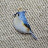 Decoupage Bird/Blue