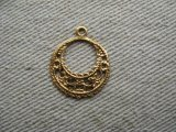 BRASS FILIGREE CIRCLE HOOP
