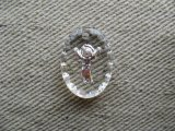 "Vintage Glass Intaglio ""ANGEL"" Oval Pendant"