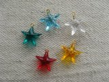Plastic Star Charms