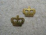 Brass Plate Crowns 2個入り
