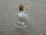 "Glass Cork Mini Bottle charm ""Big ball"""