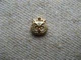BRASS Tiny owl head