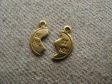 """Best Friends""  Brass Charm Set"
