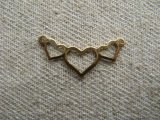 BRASS 3-HEART CONNECTER