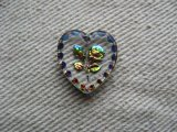 Flower Heart Glass Intaglio Pendant